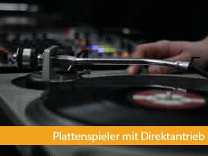 dj plattenspieler mit direktantrieb