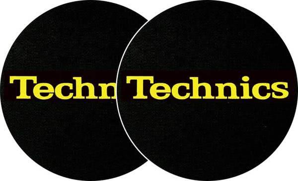 2x Slipmats - Technics Logo - jaune_1