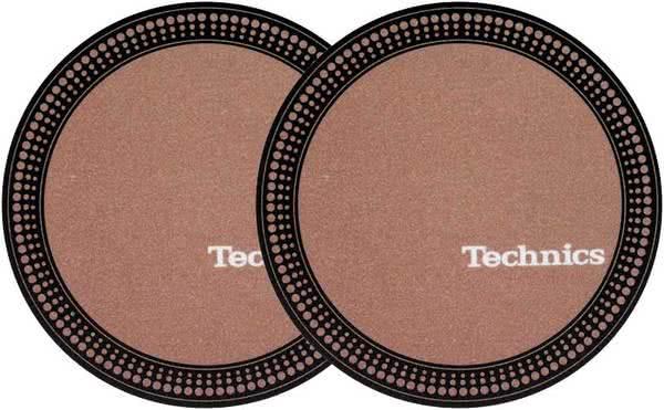 2x Slipmats - Technics Strobe - Brown_1