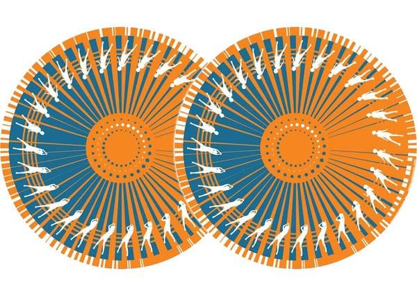 2x Zomo Slipmats Dance - orange_1