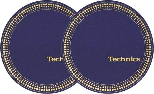 2x Slipmats - Technics Strobe - Blue_1