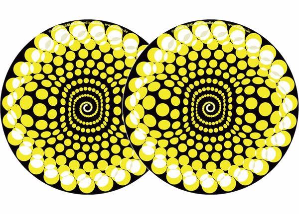 2x Zomo Slipmats - Balls - gelb_1