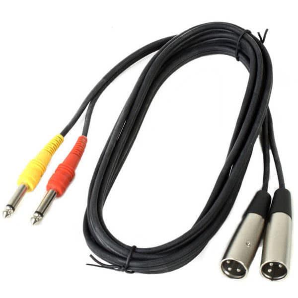 Antoc Cable - 2x 6.3 jack - 2x XLR - 3m_1