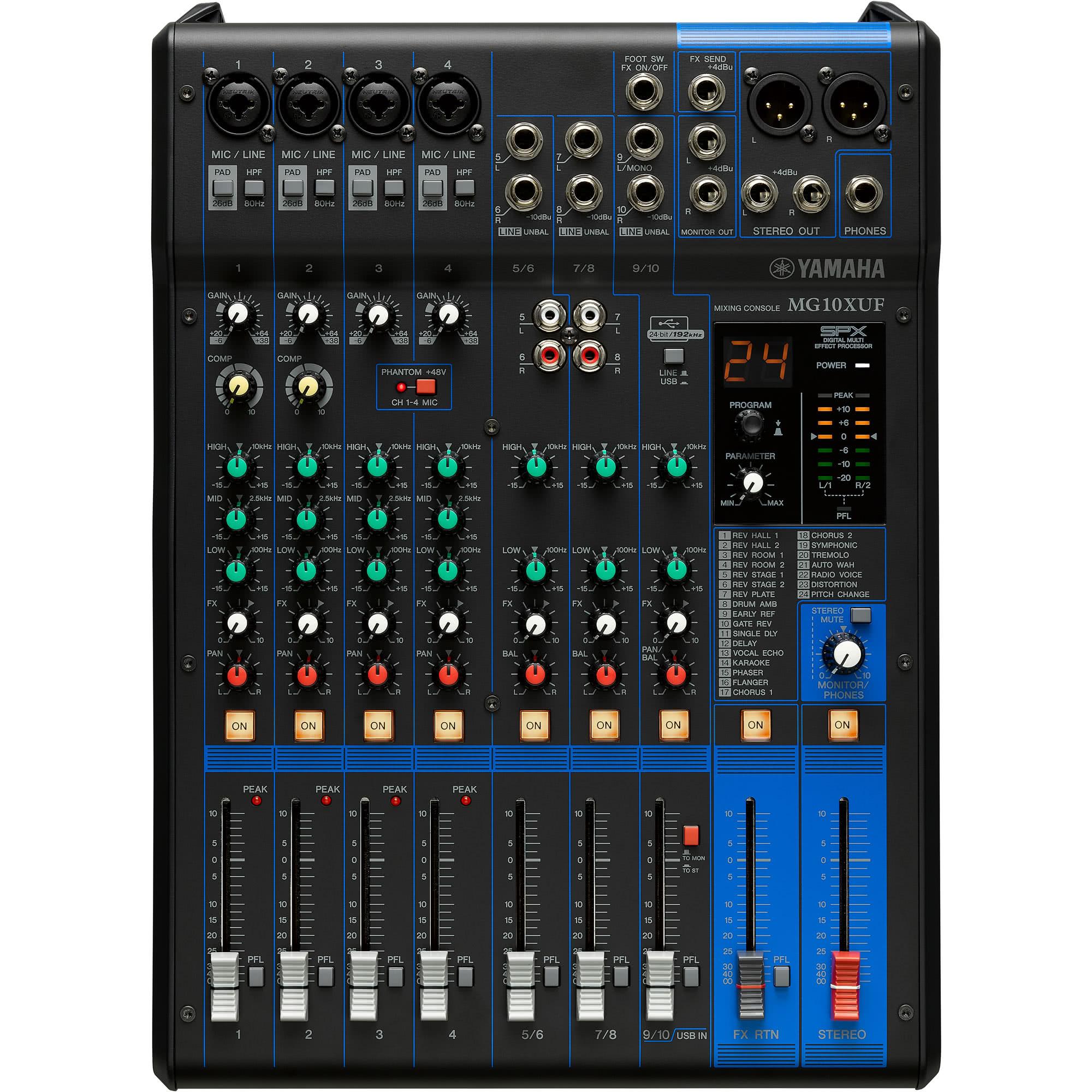 Yamaha Mg 10xuf Mixers Up To 20 Channels Studio Mixers