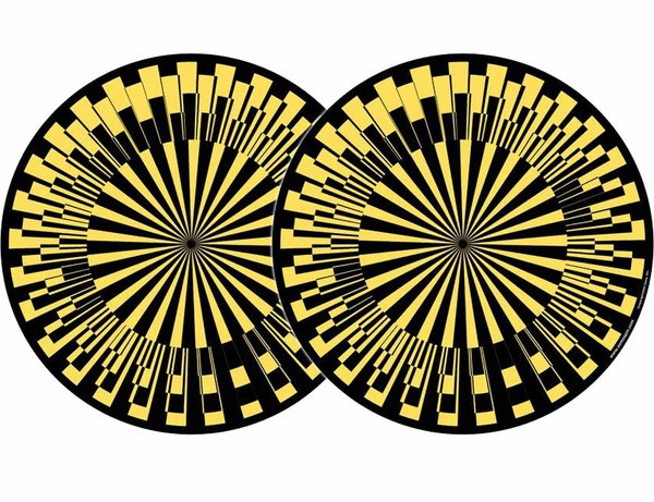 2x Zomo Slipmats - Scope - giallo_1