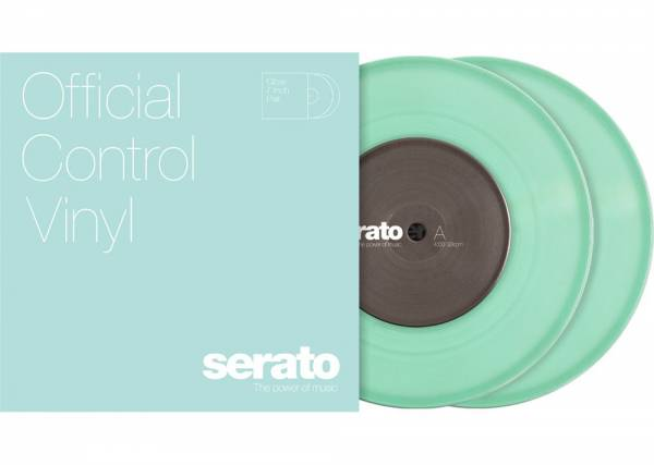 """Serato 2x7"""" Control Vinyl - Glow in the Dark_1"""