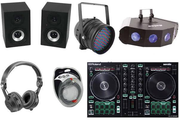 recordcase controller dj starter set plus dj controller digitales dj equipment dj. Black Bedroom Furniture Sets. Home Design Ideas