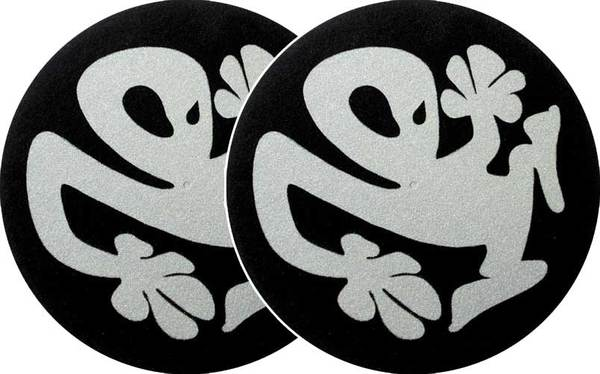 2x Slipmats - Plasticman - negro-plata_1