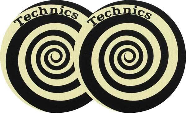 2x Slipmats Technics Spiral Reflex - amarillo_1