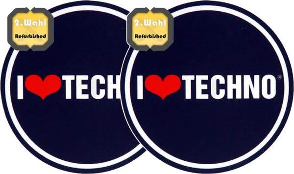 2x Slipmats - I Love Techno - B-Stock_1