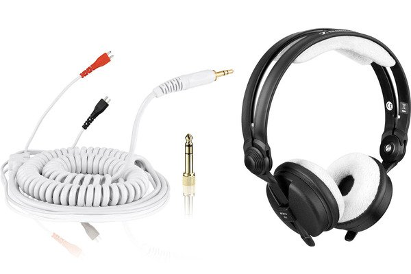 Bundle: HD 25 Cable DeLuxe 3,5 m + Earpads Teddy - white_1