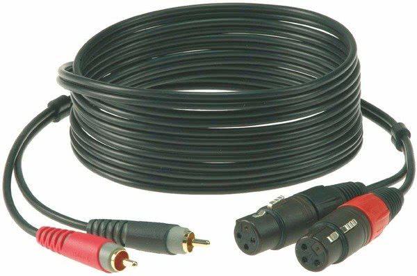 Klotz AT-CF0100 RCA - 2x XLR (f) - 1m_1