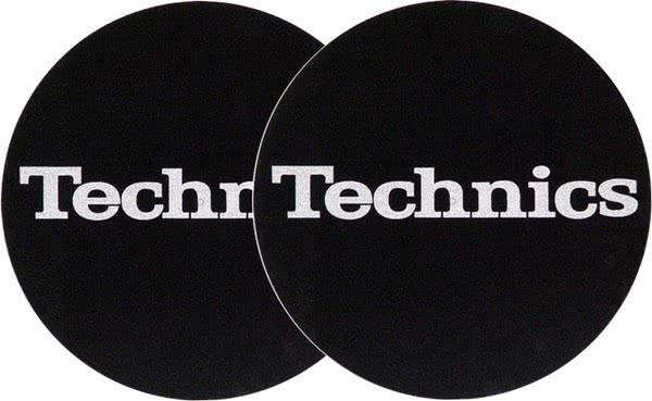 2x Slipmats Technics Logo - argento_1