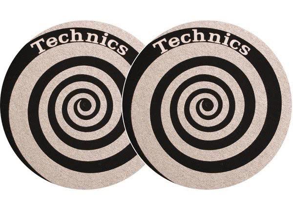 2x Slipmats Technics Spiral - argento_1