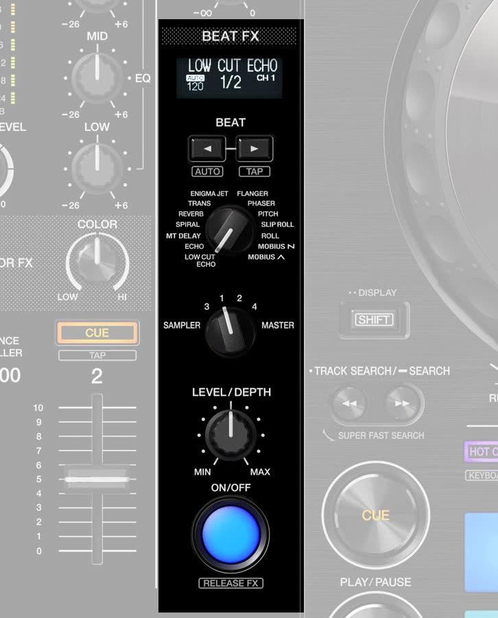 DDJ-800 BeatFX Sektion