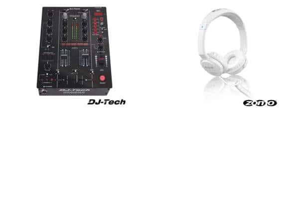 DJ-Tech Twin USB -2CH DJ DJM-303 + Zomo HD-500 Bundle_1