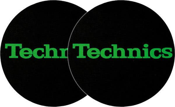 2x Slipmats Technics Logo - verde_1