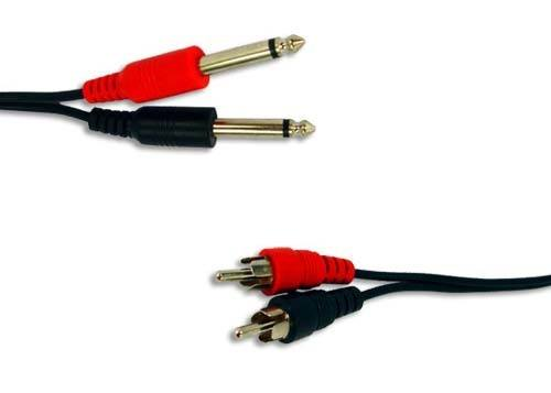 Cable 2x 6,3 mm jack - 2x RCA - 3m_1
