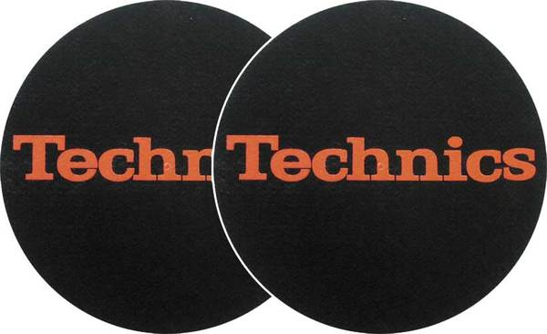 2x Slipmats - Technics Logo - Rojo_1
