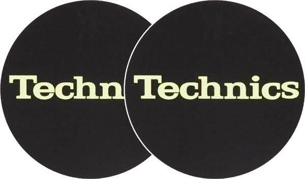 2x Slipmats - Technics Logo Glow Yellow_1