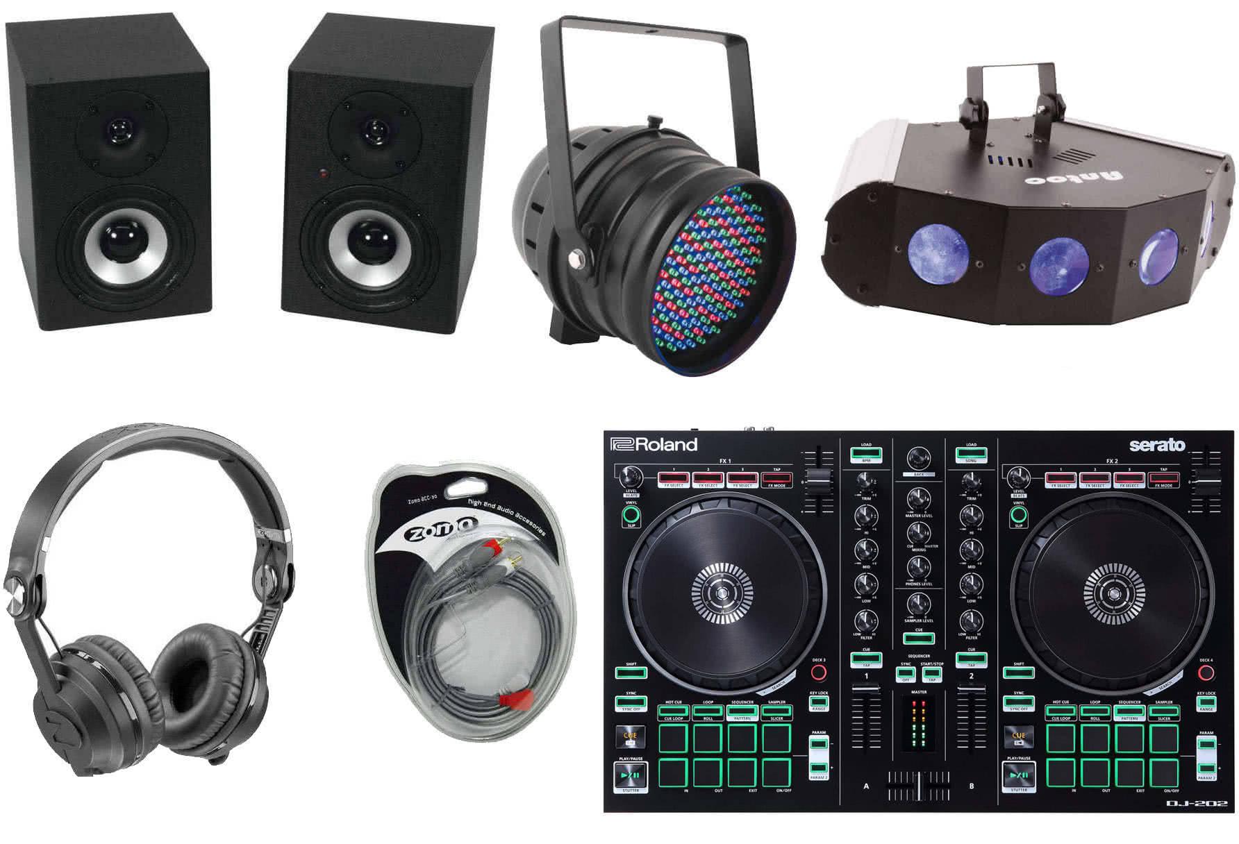 recordcase controller dj starter set plus paquetes de 39 equipos dj material dj. Black Bedroom Furniture Sets. Home Design Ideas