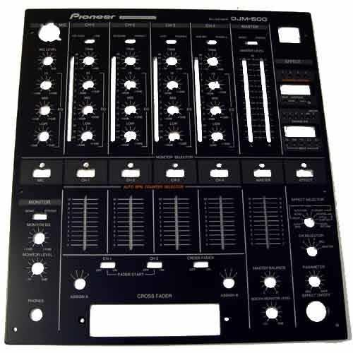 Pioneer DJM-500 DNB1067 Front Plate black_1