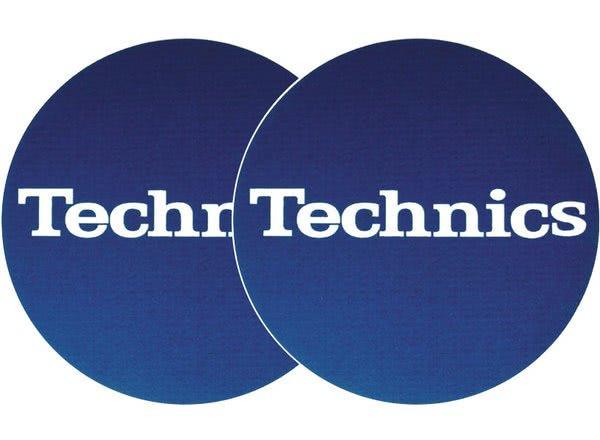 2x Slipmats - Technics bleu - Logo blanc_1