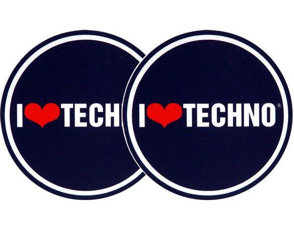 2x Slipmats - I love Techno_1