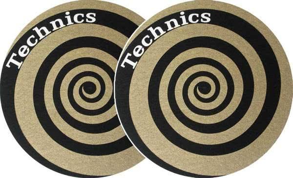 2x Slipmats - Technics Spiral - Gold_1