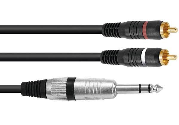 Omnitronic AL-15 - 6.3 mm jack - RCA - 1.5m_1