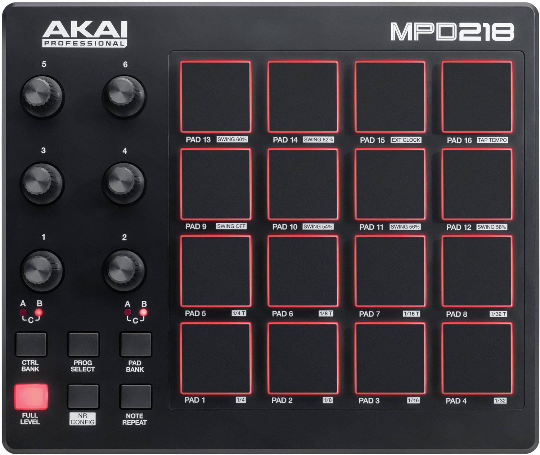akai mpd 218 pad drum controller midi controller studio equipment. Black Bedroom Furniture Sets. Home Design Ideas